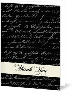 Simple Cream Black Anniversary Thank You Card
