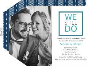 Modern We Do 25th Anniversary Invitation