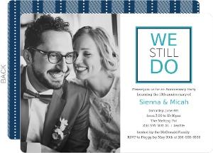 Modern We Do 10th Anniversary Invitation