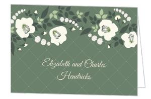 Greenery Botanical Wedding Thank You Card
