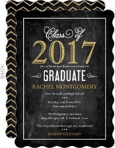 Faux Glitter Celebrations Graduation Invitation