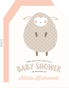 Little Lamb Polkadot Baby Shower Invitation