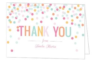 Fun Colorful Confetti Thank You Card