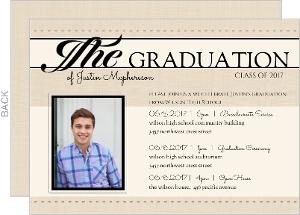 Antique Newspaper Graduation Invitation