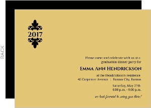 Elegant Gold Graduation Invitation