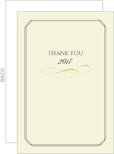 Classic Gray and Cream Graduation Thank You Card