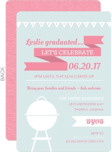 BBQ Icons Graduation Party Invitation