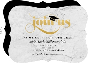 Elegant Marbled Graduation Party Invitation