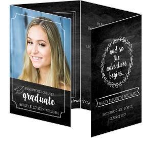 Chalkboard Frames Photo Graduation Announcement