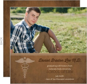 brown law school graduation invitation - Law School Graduation Invitations