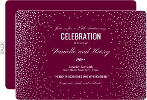 Colorful Cocktail Glasses Wedding Anniversary Invitation