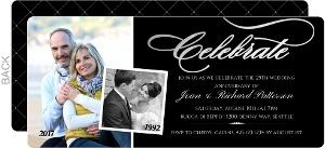 Celebrate Foil Photo Anniversary Invitation