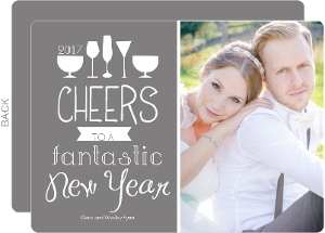 Wine Glasses New Years Photo Card