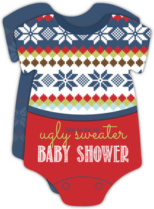 Cute Ugly Sweater Baby Shower Invitation Card