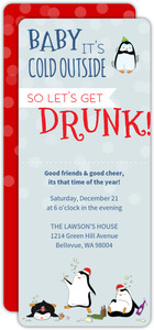 its cold so get drunk funny holiday party invitation - Funny Christmas Party Invitations