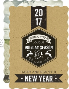 Vintage Black Label New Years Photo Card