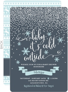 Winter Snowfall Baby Shower Invitation