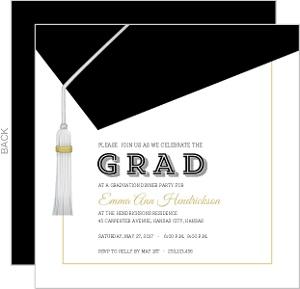 Classic Graduation Cap Invitation