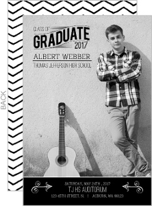 Black and White Formal Graduation Announcement