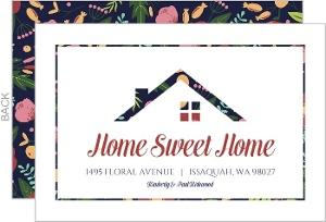 Modern Floral Housewarming Invitation