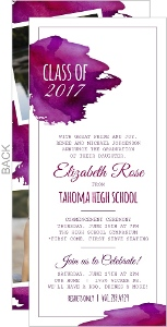 Elegant Watercolor Monogram Graduation Invitation
