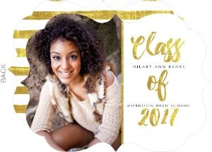 Classy Gold Foil Graduation Invitation