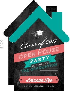 Fun Open House Graduation Party Invitation