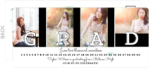 Senior Photos Graduation Postcard Invitation