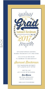 Rustic Typography Graduation Invitation