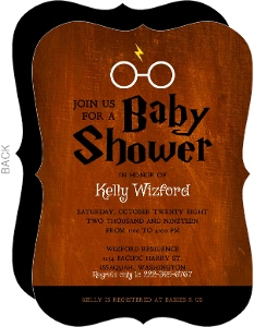 Rusted Wizard Halloween Baby Shower Invitation
