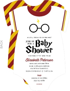 Wizard Onesie Halloween Baby Shower Invitation