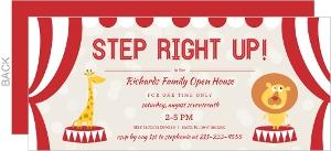 Carnival Big Top Open House Invitation