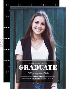 Formal Alum Graduation Announcement