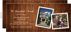 Rustic Wood Housewarming Party Invitation