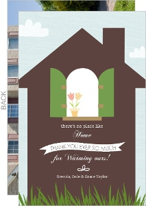 Welcoming Home Housewarming Thank You Card
