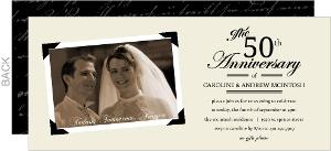 Simple Cream and Black Photo Anniversary Invitation