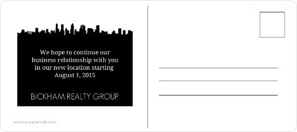 business moving postcards announcement gayparitasinclair com