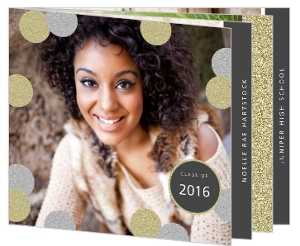 Faux Glitter Glam Graduation Booklet Invitation