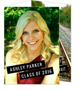 Edgy and Modern Black & White Graduation Invitation