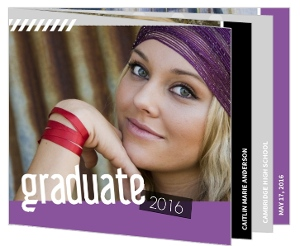 Fun Scrapbook Graduation Booklet Invitation