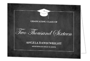 Classic Chalkboard Graduation Party Invitation