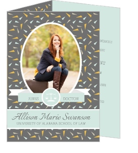 Festive Colorful Confetti Graduation Invitation