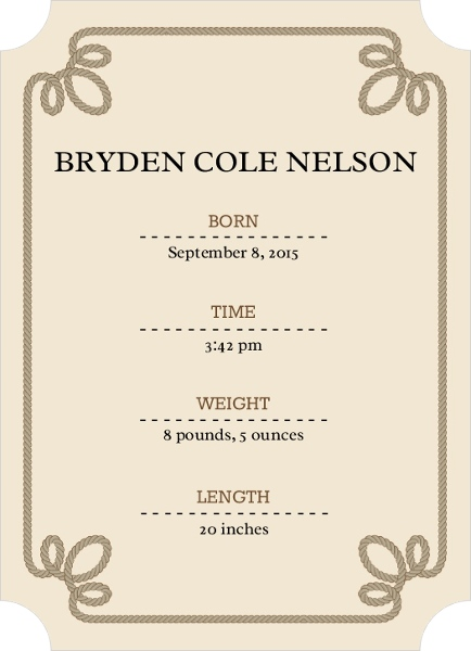 Welcome Little Cowboy Birth Announcement Invite Shop – Cowboy Birth Announcements