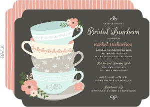 Vintage Tea Cups Bridal Shower Invitation