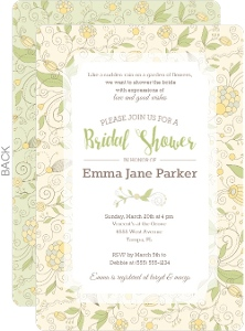 Whinsical Spring Floral Bridal Shower Invitation
