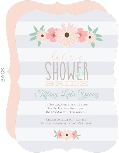 Soft Pastel Floral Bridal Shower Invitation
