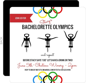 Drinking Olympics Bachelorette Party Invitation