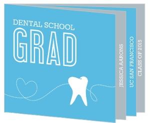 Blue Grad Dental Gradutation Booklet Invitation