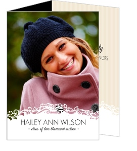 Beautiful Vintage Frame Graduation Trifold Announcement Card
