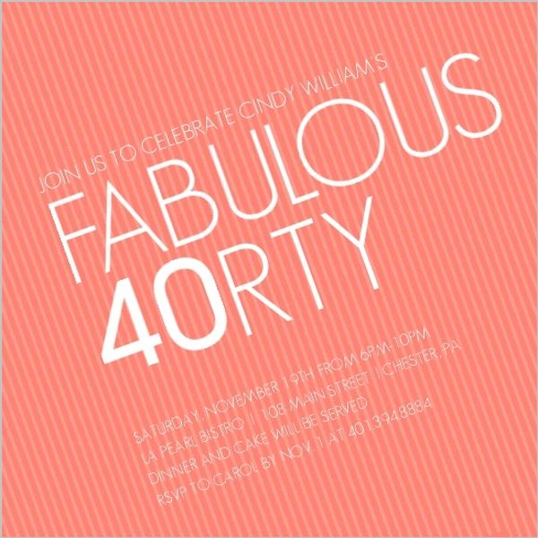 cheap 40th birthday invitations | invite shop, Birthday invitations